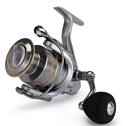 Carretes de Pesca ZWRY Carrete de Pesca de Carrete Doble 14 + 1 BB 5,5: 1 Carrete Giratorio de Alta Velocidad Carretes de Pesca de Carpa para Carrete de Pesca de Agua Salada