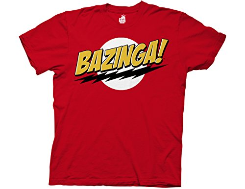 Ripple Junction Big Bang Theory Bazinga Adult T-Shirt Medium Red