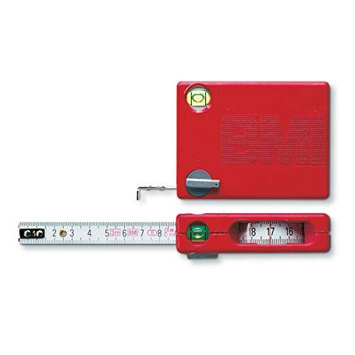BMI ビーエムアイ 13mmx3m メジャー テープロック 縦方向計測 半径描画 内側 4つの機能付き