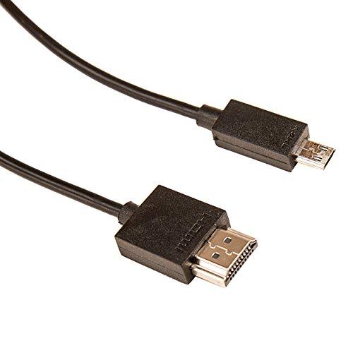 SumacLife sl6microusbhdmi Negro Micro USB de 11Pines a HDMI, 1,8m, Plug and Play