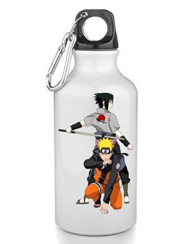 KRISSY Naruto Sasuke with A Sword Ready Fight Freie Trinkflasche Wasserflasche Sport Camping Tourist Water Bottle