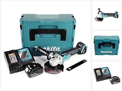 Makita DGA 504 RM1J Akku Winkelschleifer 18V 125mm Brushless + 1x Akku 4,0Ah + Ladegerät + Makpac