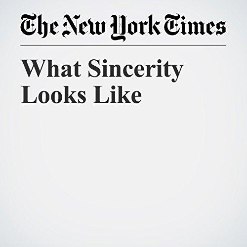What Sincerity Looks Like copertina