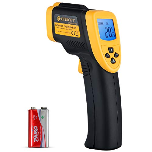 Etekcity Lasergrip 800 Digital Infrared Thermometer Laser Temperature Gun Non-contact -58℉ - 1382℉ (-50℃ to 750℃), Yellow/Black (Not Accurate for Human Temperature)