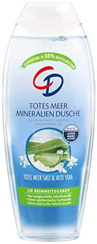 CD Dusche 'Totes Meer Mineralien', 250 ml, Duschgel mit echtem Salz aus dem Toten Meer, Showergel mit Aloe-vera-Extrakt für empfindliche Haut, ohne Mikroplastik, vegan