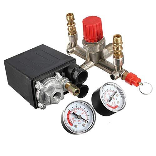 Kleiner Luftkompressor, ONEVER Druckschaltersteuerung, 15A 240V / AC-Ventilregler, vier Löcher