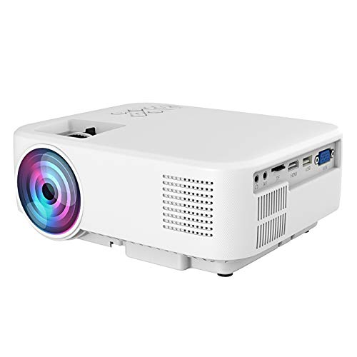 Garsentx LED Portable, 1080P Media Home Theater Video Projector built‑in 3D audio speakers Support HDMI, AV, USB, VGA Media Video Player for TV Box, Laptop, Smartphone, etc.(UK)