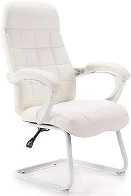 LJFYXZ Silla de la computadora del Arco, sillas Respaldo reclinable Estudio Blanco