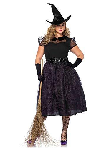 Leg Avenue Dames kostuum Darling Spellcaster heks zwart 3XL - 4XL extra groot