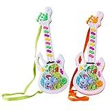 Creamon Mini Guitare électrique Jouet, Mini Guitare électrique Jouet Musical Jouet pour Enfants Jouets de Guitare Mignons Jouet éducatif comme Le Montre