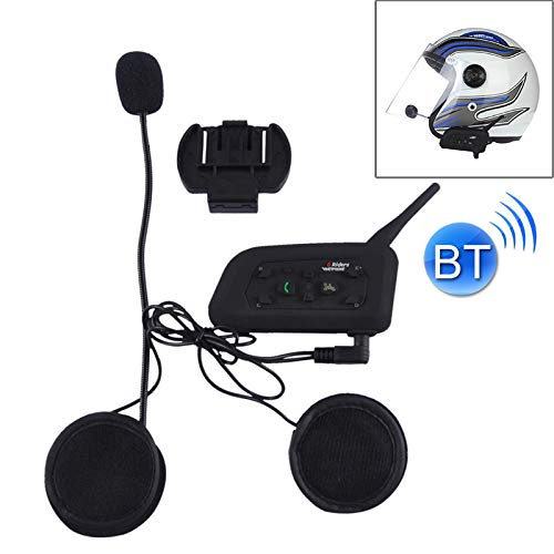 Review V6-1200 1200m Life Waterproof Wind-Resistant Bluetooth Interphone Headsets for Motorcycle Hel...