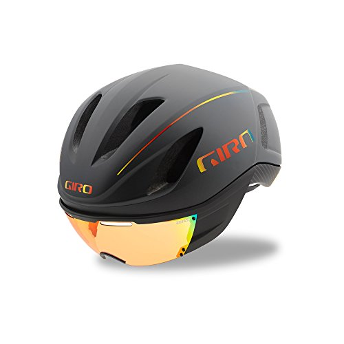 Giro Unisex's Vanquish MIPS Cycling Helmet, Matt Grey/Fire Chrome, Medium (55-59 cm)