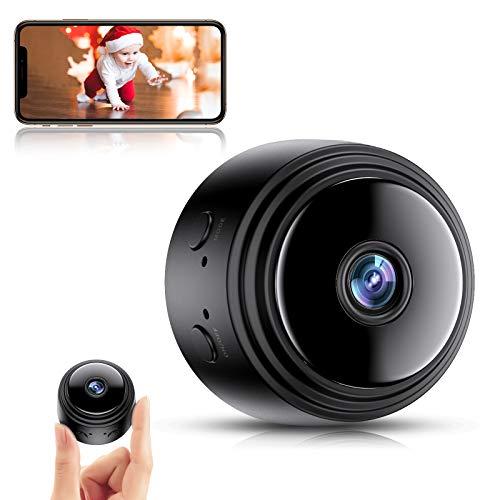 Mini Telecamera Spia Nascosta,Full HD 1080P Portatile Wifi Micro Spy Cam con Visione Notturna Videocamera di Sorveglianza Senza Fili Rilevamento di Movimento per Esterno Interno
