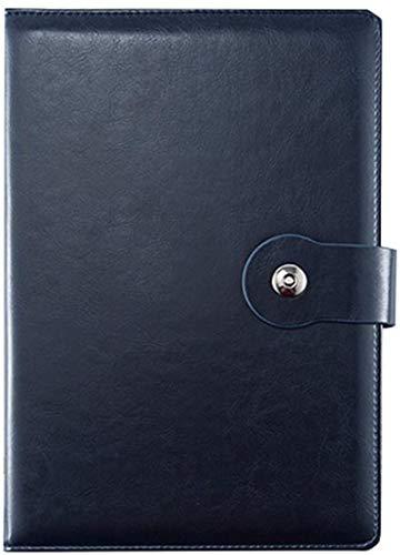 Cuaderno de notas gruesas con rayas B5 de piel sintética con diseño magnético a presión (color azul, tamaño: 6 libros)