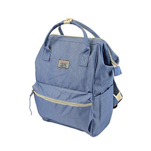 Leoodo Mochila para hombre y mujer, de lona, elegante bolso de hombro, para viajes, vacaciones, trabajo, 25 x 38 x 15 cm, color Azul, talla Einheitsgröße