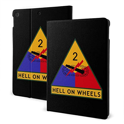 liukaidsfs Army 2nd Armored Division Logo Slim Lightweight Smart Shell Stand Cover Case for iPad Air3 & pro (10.5-Inch,Auto Wake/Sleep)