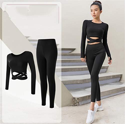 Hbao Frauen-Yoga-2-teiligen Fitness-Studio Sportbekleidung Bekleidung im Freien Laufen Anzug (Size : XX-Large)