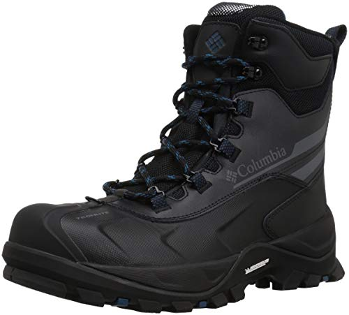 Columbia Men's Bugaboot Plus IV Omni-Heat Snow Boot, Black, Phoenix Blue, 9.5