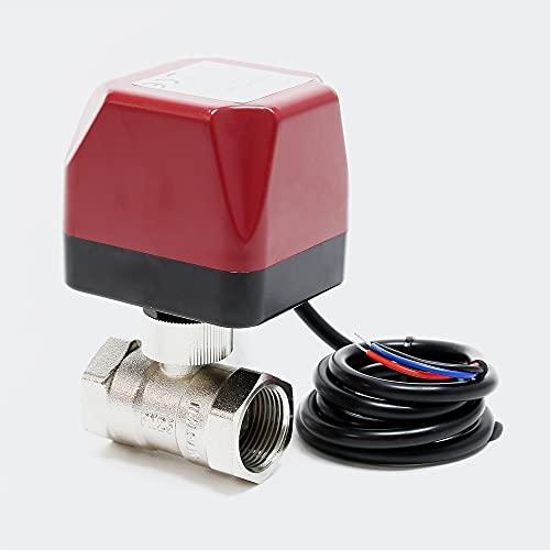 "2-Wege Zonenventil Zweiwegeventil Absperr Umschalt Motor Kugelventil 230V DN25 33.7mm (1\"")"