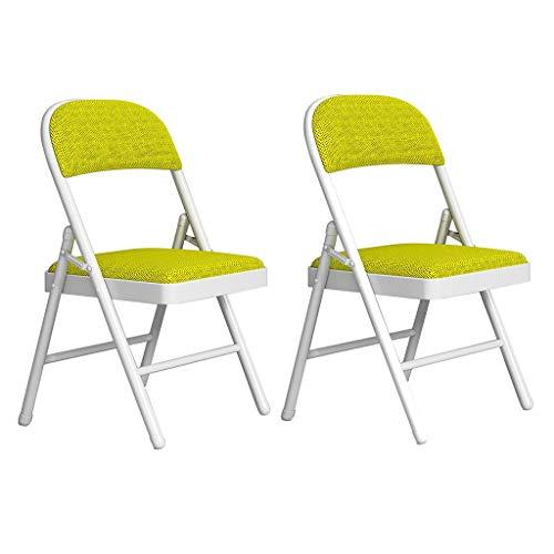 ZWJLIZI (2 stücke) Klappstuhl, Haus Tragbare PU Atmungsaktive Mesh-Stuhl, einfacher Eisenrahmen Computer Büro-Konferenzstuhl (Color : E)