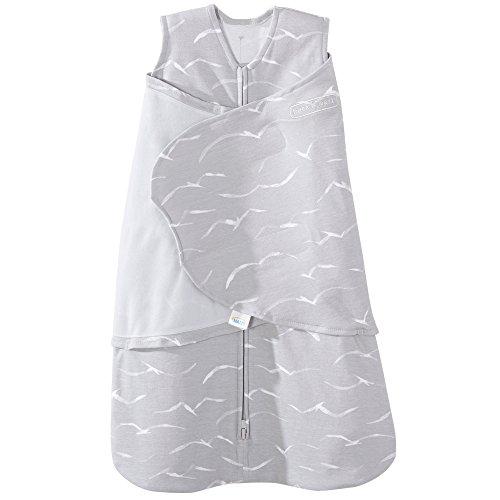 Halo 100% Cotton Sleepsack Swaddle Wearable Blanket, Grey Birds, Small