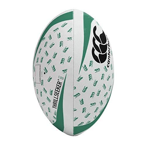 Canterbury Thrillseeker+ Rugby League Union Trainingsball, Weiß/Schwarz/Grün, Größe 5