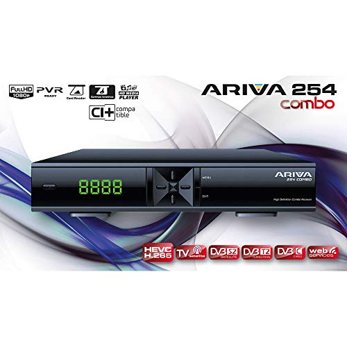 Ferguson ARIVA 254 Combo, CI+, H.265, DVB-S2, DVB-T2, DVB-C, HD Media Player, WEB Services