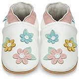 Zapatos Bebe Niña - Zapatillas Niña - Patucos Primeros Pasos - Flores de Cerezo - 0-6 Meses...
