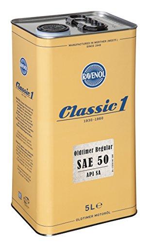 RAVENOL Oldtimer Regular SAE 50 API SA unlegiert - Motoröl für Oldtimer (5 Liter)