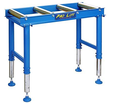 Pro-Lift-Werkzeuge Rollenbahn Rollbahn Förderband 1000 mm höhenverstellbar 400 kg Rollentisch 4 Rollen Transportrollbahn Förderstrecke