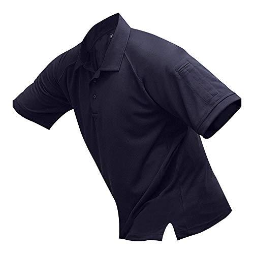 Vertx Men's Coldblack Short Sleeve Polo Shirt, Long Body, Navy, Medium -  VERTX Tactical Clothing and Gear, F1 VTX4000PT-NV-Medium
