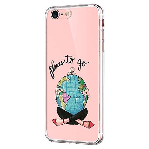 Pacyer Funda compatible con iPhone 7, Suave Carcasa compatible iPhone 8 Plus transparent Case Cover Silicona Funda compatible iPhone 7/8 Plus Diseño Rosa flower (7, iPhone 7 Plus / 8 Plus)