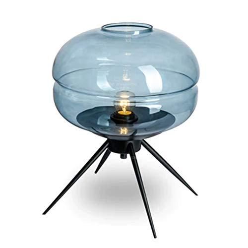 XQDSP Lampe de Table à LED Moderne Minimaliste en Verre créatif lit Chambre à Coucher Salle d'étude modèle Salon Nuit lumière,Blue