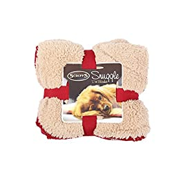 Scruffs Pet Dog Snuggle Comfort Blanket Duvet Reversible Design In 3 Colours (Red)