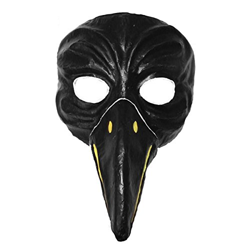 Crow cuervos Máscara Negro pintadas a mano Máscaras de