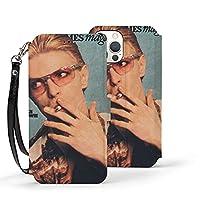 David Bowie デヴィッド・ボウイ Iphone12ケース 手帳型 薄型 スマホカバー Puレザー 全面保護 耐衝撃 カード収納 マグネット付きシンプル おしゃれ 耐久性 男性 女性 可愛