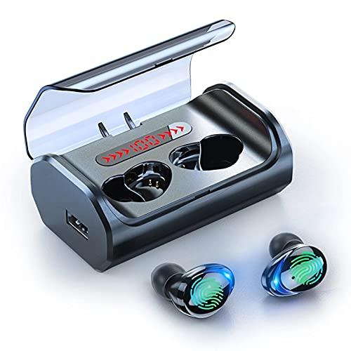 Auriculares Inalámbricos,Auriculares Bluetooth 5.0 con Micrófono,Calidad de Sonido HD, Cascos Inhalabricos para...