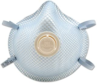 N95 Particulate Respirator Dust Mask with adjustable straps and valve, non-oil base Medium/Large, Pack of 10 Each