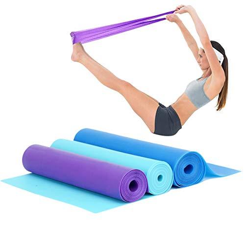 Cymax 3er Set Sport Fitnessbänder Gymnastikbänder mit 3 verschiedenen Stärken, Perfekt für Yoga, Pilates, Krafttraining, 150cm * 15cm