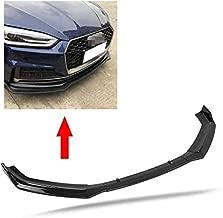 Qiilu Bumper Lip Splitter, Car Front Bumper Add on Canard Lip Splitter Body Shovels for A5 S-Line B9 17-18(Carbon Fiber)