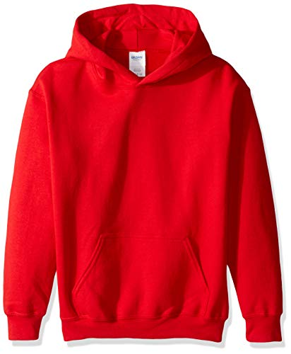 Gildan Kids' Big Hooded Youth Sweatshirt, Red, X-Large