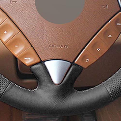 ZYTB Para la Cubierta del Volante del Coche Cosido a Mano Negro Bricolaje para Porsche Cayenne 2007-2010