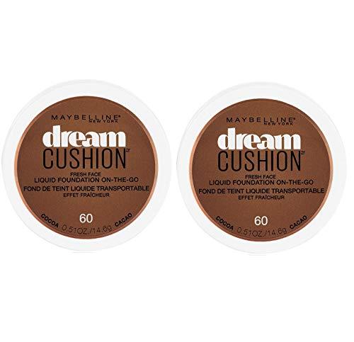 (2 Pack) Maybelline New York Dream Cushion Fresh Face Liquid Foundation, Cocoa, 0.51 oz.