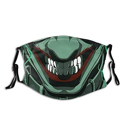 Mascarilla sonriente labios miedo payaso máscara pasamontañas lavable adultos con filtros style5