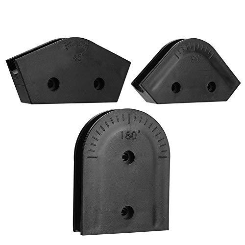 Diyeeni 3 Piezas.Kit de Formas de flexión de ABS para Tubos de acrílico Duro OD 16 mm, Radio de curvatura 45 ° / 90 ° / 180 °, Adecuado para la Serie AWGM3