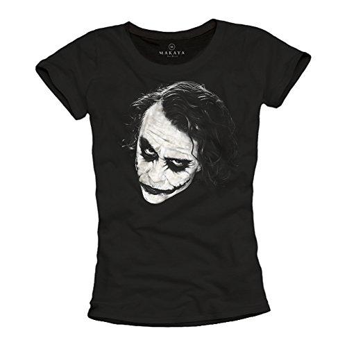 Camiseta Mujer Joker - Why So Serious - Batman Negra M