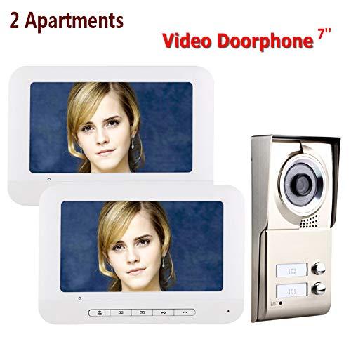 Video Deurbel 7 Inch Walkie-Talkie Ingang Systeem Wired Monitoring Deurbel Voordeur Camera Met Nachtzicht, Afstandsbediening, Fotoopname