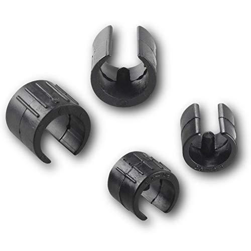 4 Deslizantes de la carcasa de sujeción/deslizantes para sillas, plástico, negro para tubos redond