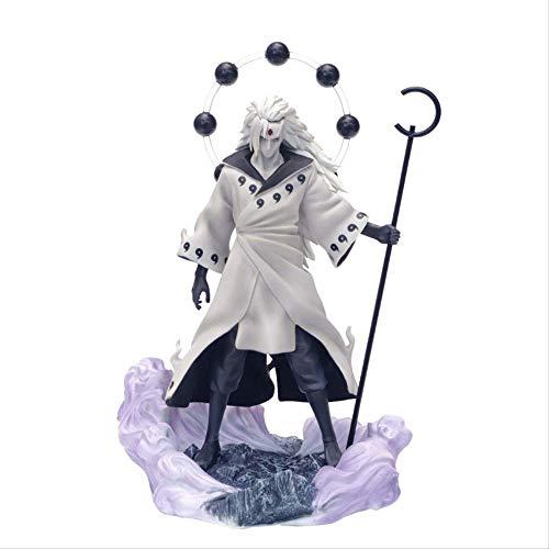 Yangzou 26 Cm Anime Naruto Uchiha Madara Rikudō Sennin Ootutuki Hagoromo PVC Figura De Acción Facial Reemplazo Colección Modelo De Juguete