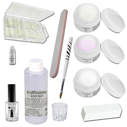 Set en acrylique avec embouts pour ongles - Napoli - Poudre acrylique - Kit d'ongles - Accessoires en acrylique - Set en acrylique -Kit de démarrage pour manucure acrylique
